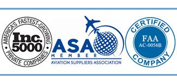 Inc. 5000, Aviation Suppliers Association Member and BBB A+ Rating